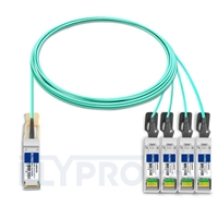 Picture of 7m (23ft) HUAWEI AOC-Q28-S28-7M Compatible 100G QSFP28 to 4x25G SFP28 Breakout Active Optical Cable