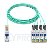 Picture of 30m (98ft) HUAWEI AOC-Q28-S28-30M Compatible 100G QSFP28 to 4x25G SFP28 Breakout Active Optical Cable