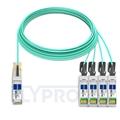 Bild von Arista Networks QSFP-4X10G-AOC25M Kompatibles 40G QSFP+ auf 4x10G SFP+ Breakout Aktives Optisches Kabel (AOC), 25m (82ft)