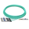 Picture of 30m (98ft) Arista Networks QSFP-4X10G-AOC30M Compatible 40G QSFP+ to 4x10G SFP+ Breakout Active Optical Cable