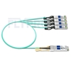 Picture of 1m (3ft) Avago AFBR-7IER01Z Compatible 40G QSFP+ to 4x10G SFP+ Breakout Active Optical Cable