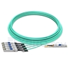 Picture of 25m (82ft) Avago AFBR-7IER25Z Compatible 40G QSFP+ to 4x10G SFP+ Breakout Active Optical Cable