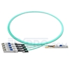 Picture of 2m (7ft) Avago AFBR-7IER02Z Compatible 40G QSFP+ to 4x10G SFP+ Breakout Active Optical Cable