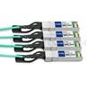 Bild von Fortinet FG-TRAN-QSFP-4XSFP Kompatibles 40G QSFP+ auf 4x10G SFP+ Breakout Aktives Optisches Kabel (AOC), 1m (3ft)