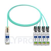 Picture of 3m (10ft) H3C QSFP-4X10G-D-AOC-3M Compatible 40G QSFP+ to 4x10G SFP+ Breakout Active Optical Cable