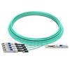 Bild von H3C QSFP-4X10G-D-AOC-25M Kompatibles 40G QSFP+ auf 4x10G SFP+ Breakout Aktives Optisches Kabel (AOC), 25m (82ft)