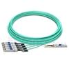 Bild von H3C QSFP-4X10G-D-AOC-30M Kompatibles 40G QSFP+ auf 4x10G SFP+ Breakout Aktives Optisches Kabel (AOC), 30m (98ft)