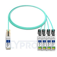 Picture of 3m (10ft) Juniper Networks JNP-QSFP-AOCBO-3M Compatible 40G QSFP+ to 4x10G SFP+ Breakout Active Optical Cable