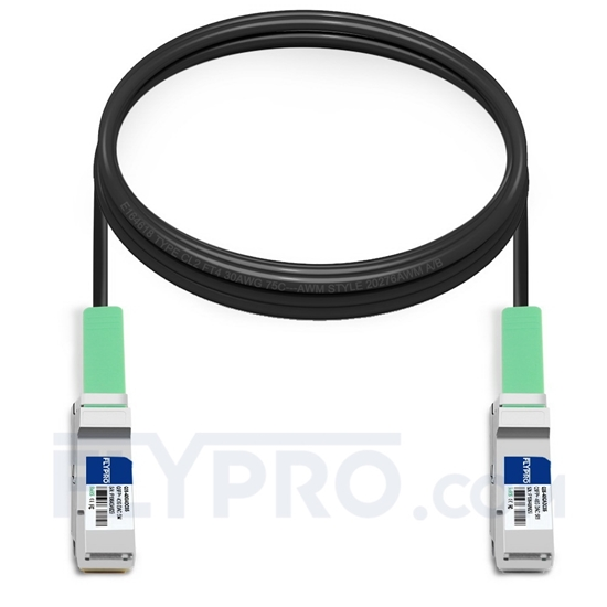 Picture of 5m (16ft) Brocade 40G-QSFP-QSFP-C-0501 Compatible 40G QSFP+ Active Direct Attach Copper Cable