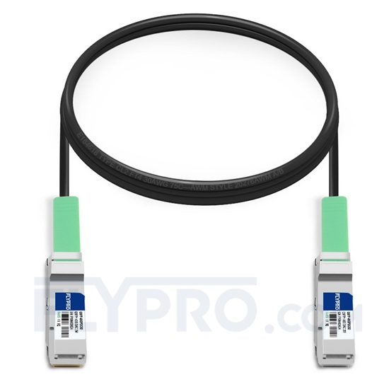 Picture of 2m (7ft) Brocade 40G-QSFP-C-0201 Compatible 40G QSFP+ Passive Direct Attach Copper Cable