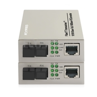 Picture of 1x 10/100Base-T RJ45 vers 1x 100Base-X SFP Rainure SC Unmanaged Gigabit Ethernet Media Converter, Simplex, 1310nm/1550nm,20km