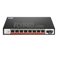 Picture of 8x 10/100Base-T RJ45 ~ 1x 100Base-X SFP Rainure SC Unmanaged PoE Switch,Single Fiber, 1310nm/1550nm 20km