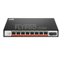 Picture of 8x 10/100/1000Base-T RJ45 ~ 1x 1000Base-X SFP Rainure SC Unmanaged PoE Switch,Single Fiber,1310nm/1550nm 20km