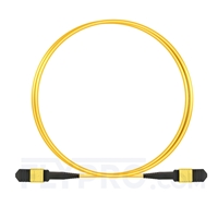 Picture of 2m (7ft) Senko MPO Female 12 Fibers Type B LSZH OS2 9/125 Single Mode Elite Trunk Cable, Yellow