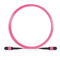 Picture of 3m (10ft) MTP-MTP Patch Cable Female 24 Fibers Type A (TIA-568) Plenum (LSZH) OM4 (OM3) 50/125 Multimode Elite, 100GBASE-SR10 CXP/CFP/CPAK, Magenta