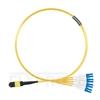 صورة 1M (3ft) MTP أنثى إلى 4 LC UPC Duplex 8 Fibers Type B Plenum (OFNP) OS2 9/125 Cable Elite Singleout Cable، Yellow