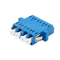 Bild von LC/UPC auf LC/UPC Quad Singlemode LWL-Adapter/Führungshülse aus Kunststoff mit Flansch