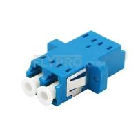 Bild von LC/UPC auf LC/UPC Duplex Singlemode SC Fußabdruck LWL-Adapter/Führungshülse aus Kunststoff mit Flansch