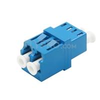 Bild von LC/UPC auf LC/UPC Duplex Singlemode LWL-Adapter/Führungshülse ohne Flansch