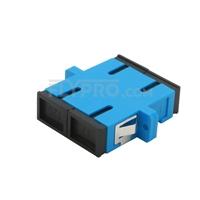 Bild von SC/UPC auf SC/UPC Duplex Singlemode LWL-Adapter/Führungshülse aus Kunststoff mit Flansch