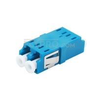 Bild von LC/UPC auf LC/UPC Duplex Singlemode SC Fußabdruck LWL-Adapter/Führungshülse aus Kunststoff ohne Flansch