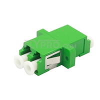 Picture of LC/APC to LC/APC Duplex Single Mode Plastic Fiber Optic Adapter/Mating Sleeve with Flange