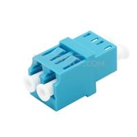 Bild von LC/UPC auf LC/UPC Duplex OM3/OM4 Multimode LWL-Adapter/Führungshülse ohne Flansch
