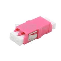 Bild von LC/UPC to LC/UPC 10G Duplex OM4 Multimode SC Footprint Plastic Fiber Optic Adapter/Mating Sleeve without Flange, Violet