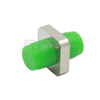 Picture of FC/APC to FC/APC Simplex Single Mode Square Solid Type One Piece Metal Fiber Optic Adapter/Mating Sleeve with Flange