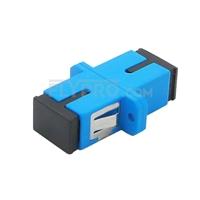 Bild von SC/UPC auf SC/UPC Simplex Singlemode LWL-Adapter/Führungshülse aus Kunststoff mit Flansch