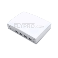 Picture of 4 Ports FTB-104B Wall Mounted Fiber Terminal Box as Distribution Box Without Pigtails and Adapters