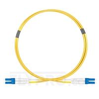 Bild von Biegeunempfindliches LWL-Patchkabel, 1m (3ft) Klasse B LC UPC auf LC UPC Duplex Stecker, OS2 Singlemode, Typisch 0,12dB IL, LSZH 2,0mm