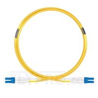 Bild von Biegeunempfindliches LWL-Patchkabel, 5m (16ft) Klasse B LC UPC auf LC UPC Duplex Stecker, OS2 Singlemode, Typisch 0,12dB IL, LSZH 2,0mm