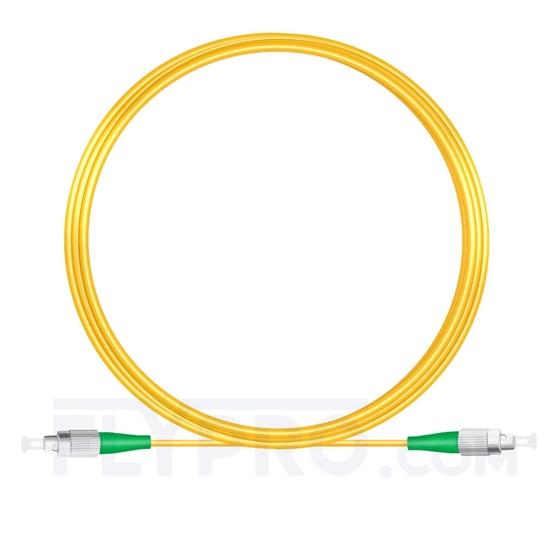 Bild von 10M(33ft)1550nm FC APC Simplex Slow Axis Single Mode PVC-3.0mm (OFNR) 3.0mm Polarization Maintaining Fiber Optic Patch Cable