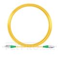 صورة 15M(49ft)1550nm FC APC Simplex Slow Axis Single Mode PVC-3.0mm (OFNR) 3.0mm Polarization Maintaining Fiber Optic Patch Cable