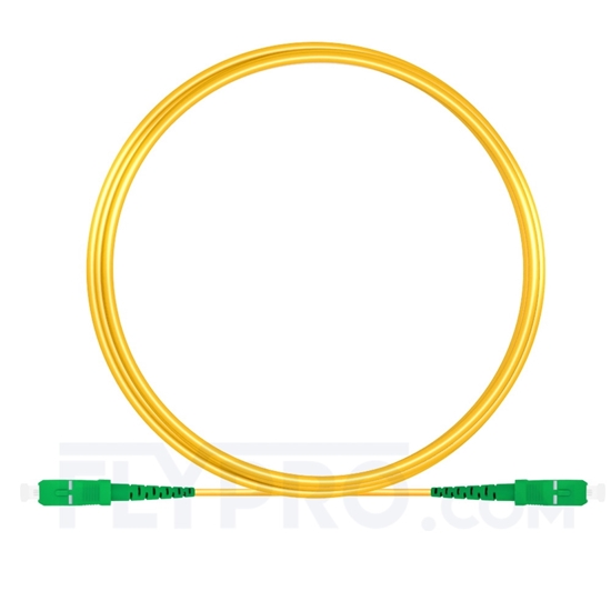 Picture of 5M(16ft)1550nm SC APC Simplex Slow Axis Single Mode PVC-3.0mm (OFNR) 3.0mm Polarization Maintaining Fiber Optic Patch Cable