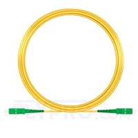Bild von 15M(49ft)1550nm SC APC Simplex Slow Axis Single Mode PVC-3.0mm (OFNR) 3.0mm Polarization Maintaining Fiber Optic Patch Cable