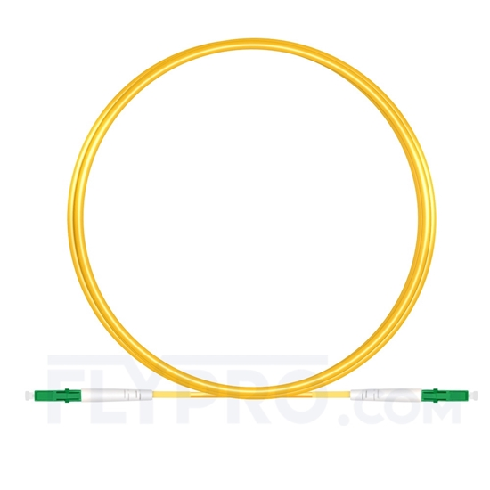 Picture of 3M(10ft)1550nm LC APC Simplex Slow Axis Single Mode PVC-3.0mm (OFNR) 3.0mm Polarization Maintaining Fiber Optic Patch Cable