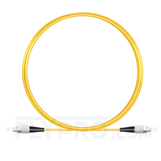 Picture of 2M(7ft))1550nm FC UPC Simplex Slow Axis Single Mode PVC-3.0mm (OFNR) 3.0mm Polarization Maintaining Fiber Optic Patch Cable