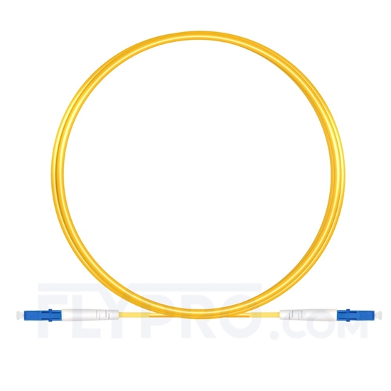 Picture of 3M(10ft)1550nm LC UPC Simplex Slow Axis Single Mode PVC-3.0mm (OFNR) 3.0mm Polarization Maintaining Fiber Optic Patch Cable