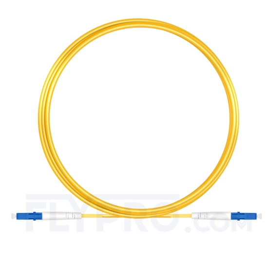 Picture of 5M(16ft)1550nm LC UPC Simplex Slow Axis Single Mode PVC-3.0mm (OFNR) 3.0mm Polarization Maintaining Fiber Optic Patch Cable