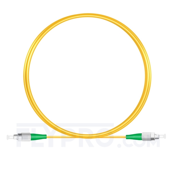 Picture of 3M(10ft)1310nm FC APC Simplex Slow Axis Single Mode PVC-3.0mm (OFNR) 3.0mm Polarization Maintaining Fiber Optic Patch Cable