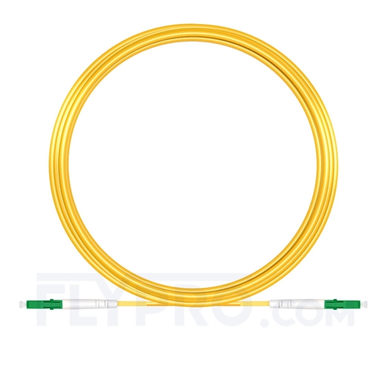 Bild von 20M(66ft)1310nm LC APC Simplex Slow Axis Single Mode PVC-3.0mm (OFNR) 3.0mm Polarization Maintaining Fiber Optic Patch Cable