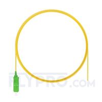 Picture of 2m (7ft) SC APC Simplex OS2 Single Mode PVC (OFNR) 0.9mm Fiber Optic Pigtail