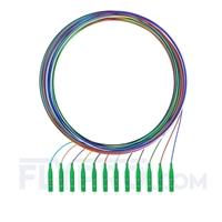 Bild von LWL-Pigtail LC, 12 Fasern LC APC, OS2 Singlemode farbcodiert - nicht ummantelt 2m (7ft)