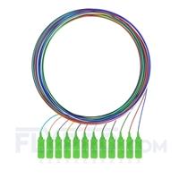 Bild von LWL-Pigtail SC, 12 Fasern SC APC, OS2 Singlemode farbcodiert - nicht ummantelt 2m (7ft)
