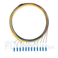 Bild von LWL-Pigtail LC, Bündel 12 Fasern LC UPC, OS2 Singlemode - 0.9mm PVC (OFNR) 1,5m (5ft)