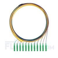 Bild von LWL-Pigtail LC, Bündel 12 Fasern LC APC, OS2 Singlemode - 0,9mm PVC (OFNR) 1,5m (5ft)