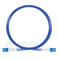 Picture of 10m (33ft) LC UPC to LC UPC Duplex OS2 Single Mode Armored PVC (OFNR) 3.0mm Fiber Optic Patch Cable