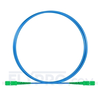 Picture of 2m (7ft) SC APC to SC APC Simplex OS2 Single Mode Armored PVC (OFNR) 3.0mm Fiber Optic Patch Cable